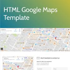 Free HTML Bootstrap Google Maps Template