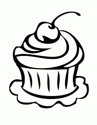 Cupcake coloring pages 4