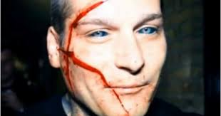 Popek Tattoo Eyes Scarred Face