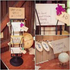 Country Wedding Travel Theme Seating Chart