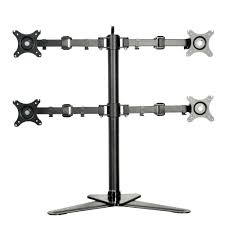 Monitor Arms Desk Mount by Fleximounts Full Motion Free Standing Quad Monitor Arm Desk Mounts