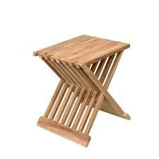 teak beistelltisch oder klappstuhl quadratisch geschliffen 40x32x44cm kaufen