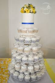 Blue And Yellow Wedding Cupcakes For A Policeman His Bride