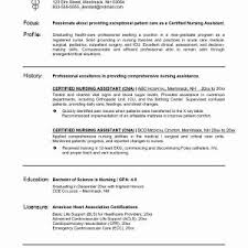 Sample Resume For Nursing Assistant Position Inspirationa 25 Beautiful Job