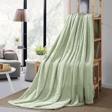 plaids pour canapé plaids vert velours flanelle couvertures de canapé jetés de lit