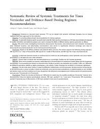 systematic review of systemic treatments for tinea versicolor and