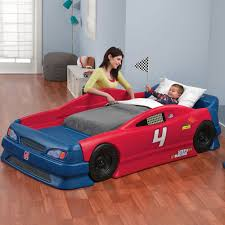 amazon com step2 stock car convertible bed toys games