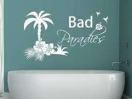 wandtattoo bad paradies tür aufkleber badezimmer strand meer