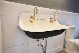 bathroom sink bathroom trough sink double faucet shallow