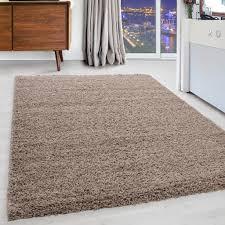 teppich rund grau hochflor teppich für schlafzimmer