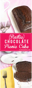 Rustic Chocolate Picnic Cake Is Decadent And Full Of Flavor But So Low