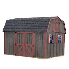 Tuff Shed Home Depot Cabin by Best Barns Meadowbrook 10 Ft X 12 Ft Wood Storage Shed Kit