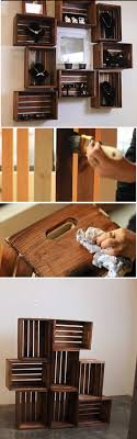 Projects For Teens Bedrooms Wooden Crate ShelvesWooden