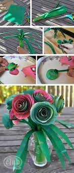 Upcycle An Ordinary Paper Bag Into A Beautiful Rose Bouquet Craft