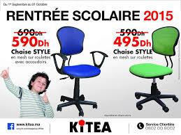 chaise de bureau maroc kitea maroc promotion de la rentrée scolaire 2015 chaise style