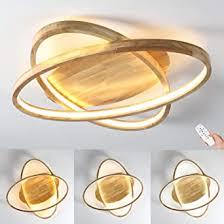 led deckenleuchte holz deckenle ø52cm runde dimmbar mit fernbedienung 2 ring modern 50w dekor wohnzimmer le ultradünne oval schlafzimmer