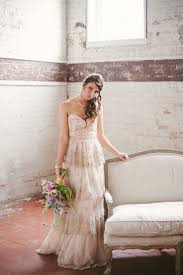 Vintage Blush Pink Beach Wedding Gown