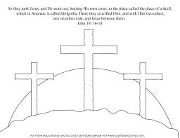 Astonishing Jesus On Cross Coloring Page With Pages And Template