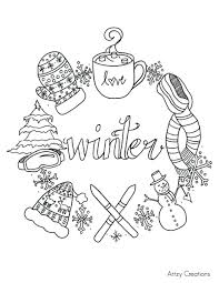 Winter Coloring Book Pages Disney To Print For Students Color