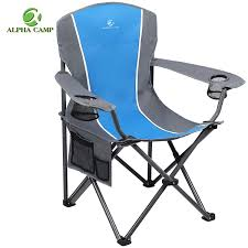 100 Oversized Padded Folding Chairs ALPHA CAMP Camping Chair Heavy Duty Support 350 LBS