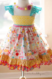girls handmade boutique dress in a gorgeous assortment of colorful