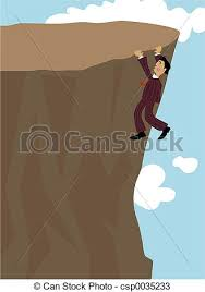 Cliff Hanger Man Hanging On A Drawings