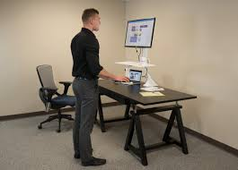 Dual Monitor Stand Up Desk by Cadence Standing Desk Converter