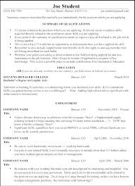 Resume Examples For Management Position Samples Entry Level Positions Exercise Science Biology