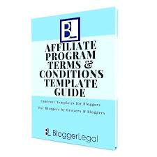 Affiliate Program Template Terms And Conditions Blogger Legal Guide Sample Free