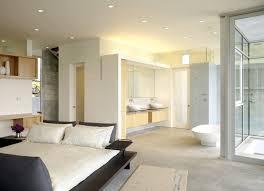 modern master bedroom with open bathroom novocom top