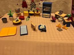 playmobil puppenhaus möbel wohnzimmer arbeitszimmer küche