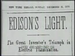 edison invents incandescent light bulb budget