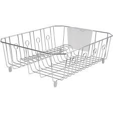 Rubbermaid Sink Mats Black by Rubbermaid Large Wire Dish Rack Chrome Walmart Com