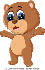 Illustration Of Cute Baby Bear Cartoon Vectors
