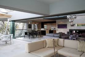 Combo Kitchen With Open Plan Living Room Bar Best Dining And