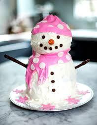 snow girl cake for my snow bunny