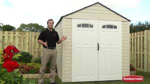 rubbermaid big max outdoor storage shed youtube
