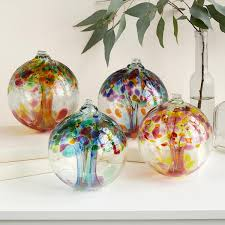 Glass Bulbs For Ceramic Christmas Tree by Recycled Glass Tree Globes Relationships Motherhood Family