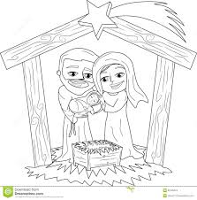 Stock Images Christmas Nativity Web Art Gallery Scene Coloring Book