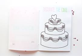 Cake Decorating Books Free by Free Printable Wedding Activity Book