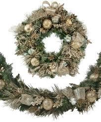 72 Inch Gold Christmas Tree Skirt by 30 Inch Gold U0026 Silver Splendor Wreath Tree Classics