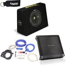 Alpine BBX-T600 Amplifier And Kicker TCWC104 CompC 10