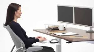 Humanscale Standing Desk Converter by The Humanscale Float Desk Youtube