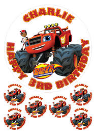 PERSONALISED BLAZE AND THE MONSTER MACHINES 7.5