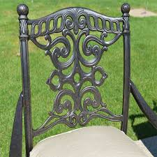 Gensun Patio Furniture Florence by Serena Luxury 8 Person All Welded Cast Aluminum Patio Furniture