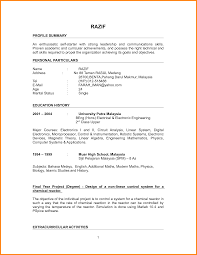 7 Example Of Good Resume For Fresh Graduate