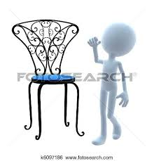Stock Illustration 3d Guy Patio Furniture Fotosearch Search Clip Art Drawings Table Leg Clips