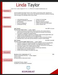 Teacher Resume Examples 2016 For Elementary School Rh Meepyatite Info High
