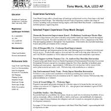 Landscape Architect Resume Lovely Creative Architect Resume Examples
