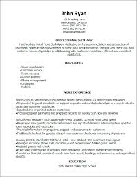 Hotel Front Desk Resume Of Office Attendant Sample For Duty Manager Final More